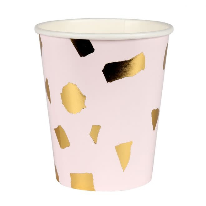 MERIMERI Blush terrazzo cups