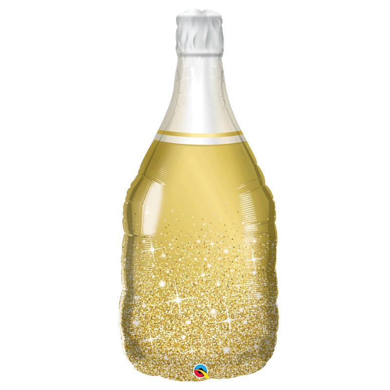 SMP champagne bottle foil balloon 90 cm