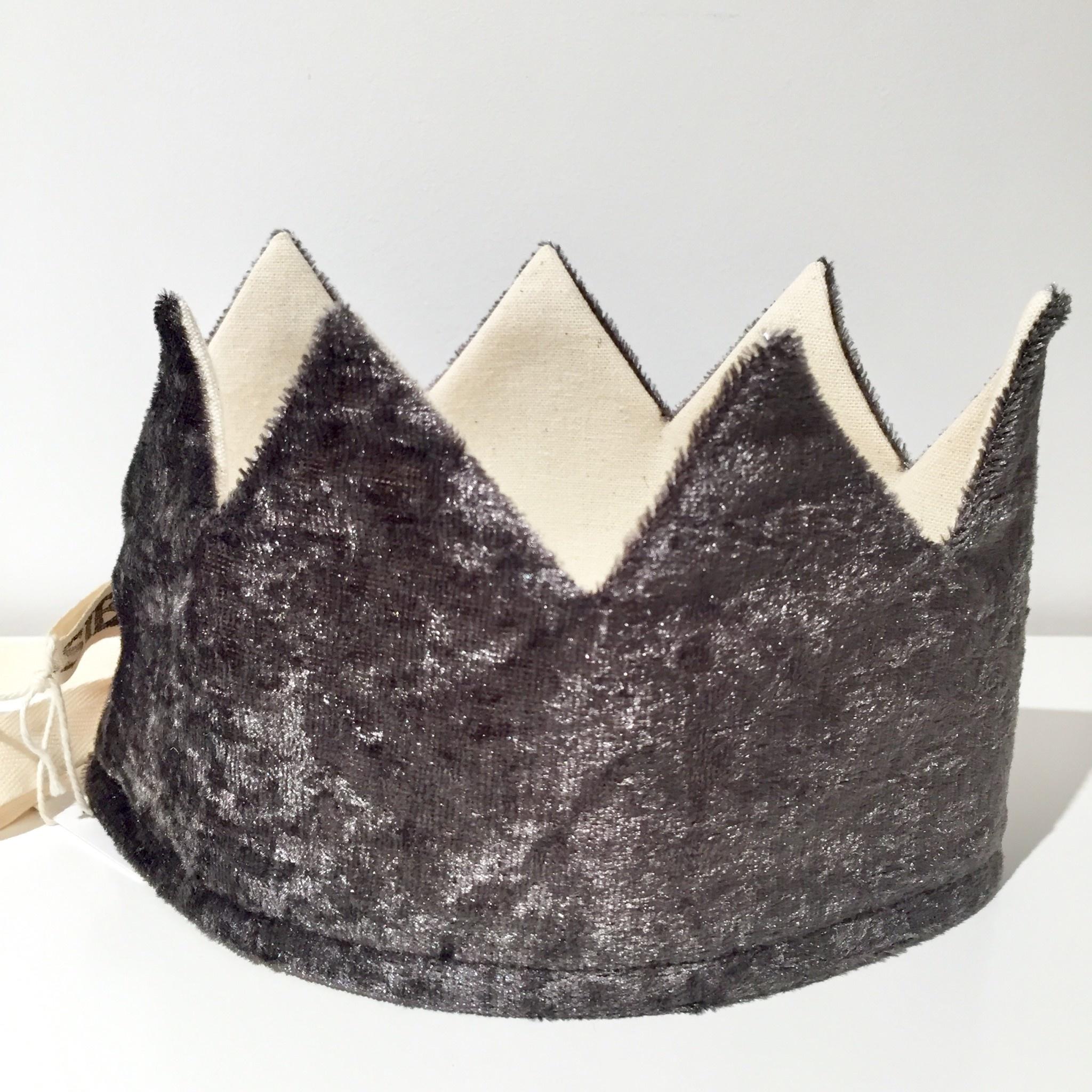 SUUSSIES crown fabric anthracite velvet