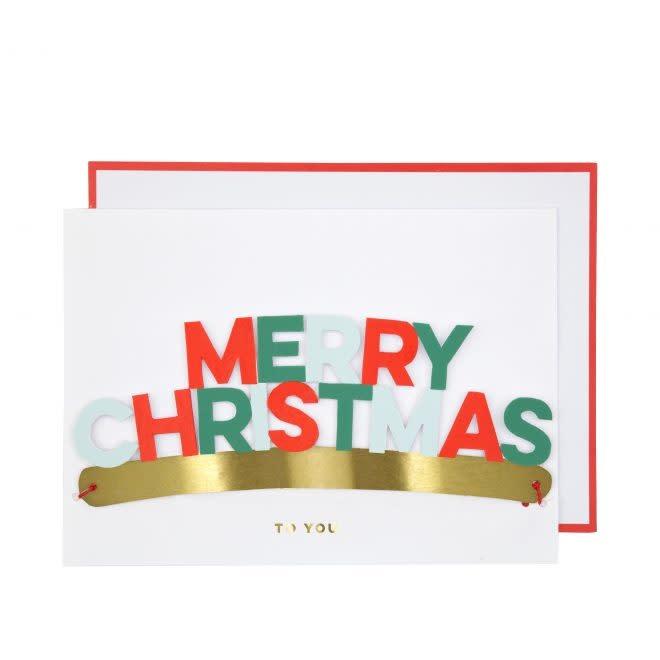 MERIMERI Merry Christmas crown card