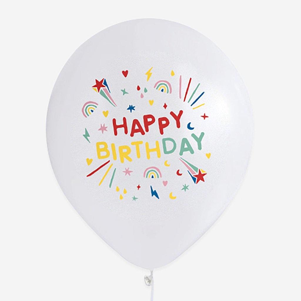 MY LITTLE DAY 5 happy birthday balloons