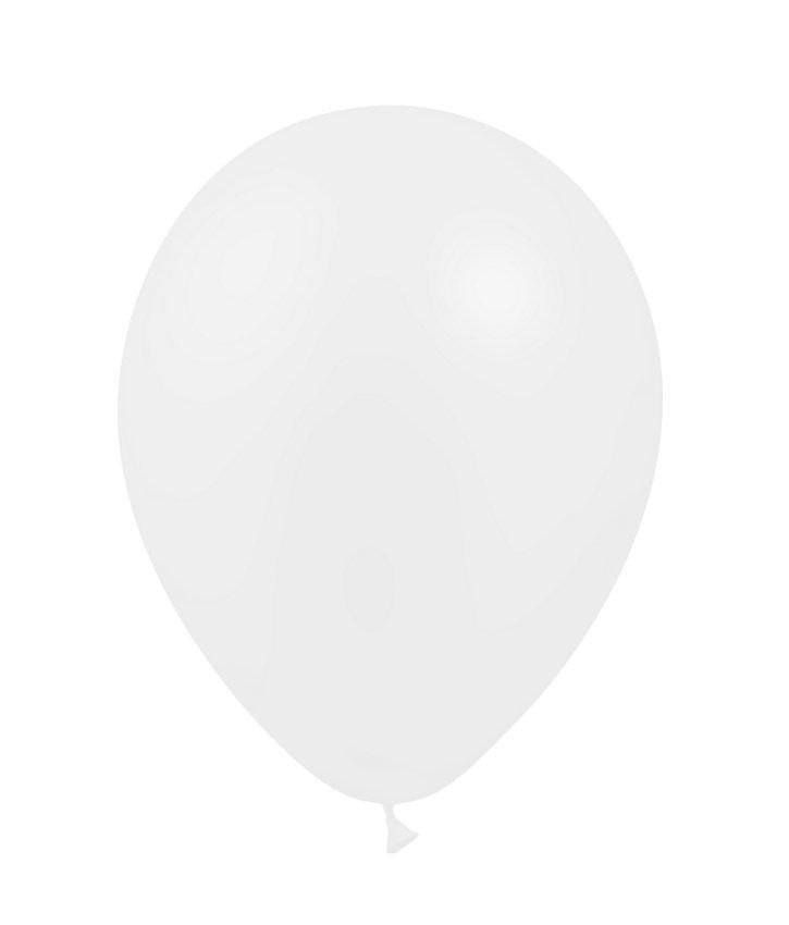 SMP 25 x mini latex balloons white 12,5 cm