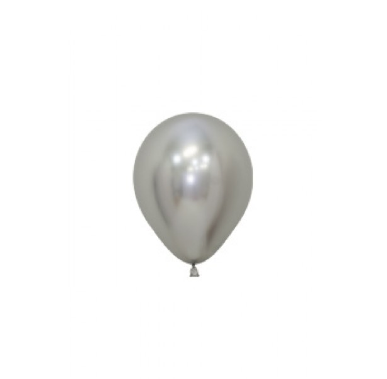 SMP 25 x mini latex balloons silver 12,5 cm
