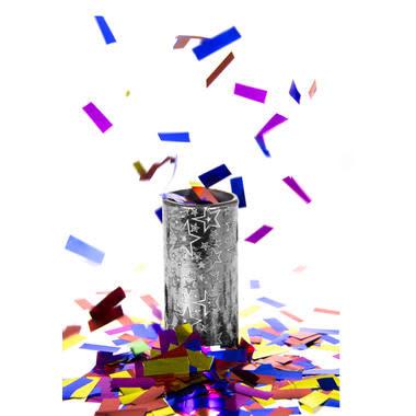 FT table confetti bomb silver