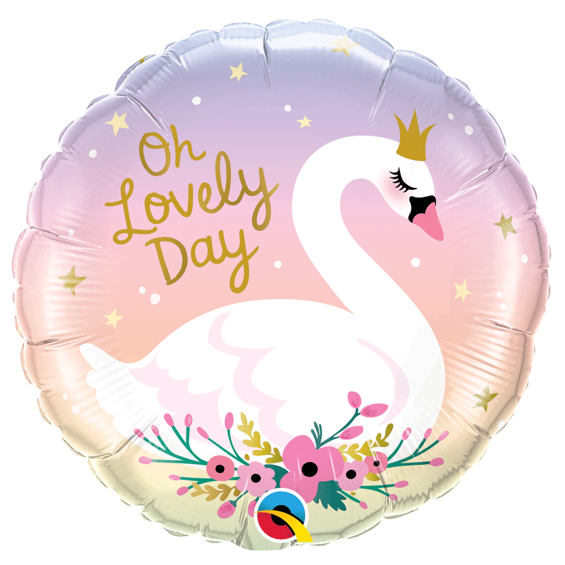 SMP Oh lovely day swan foil balloon 45 cm