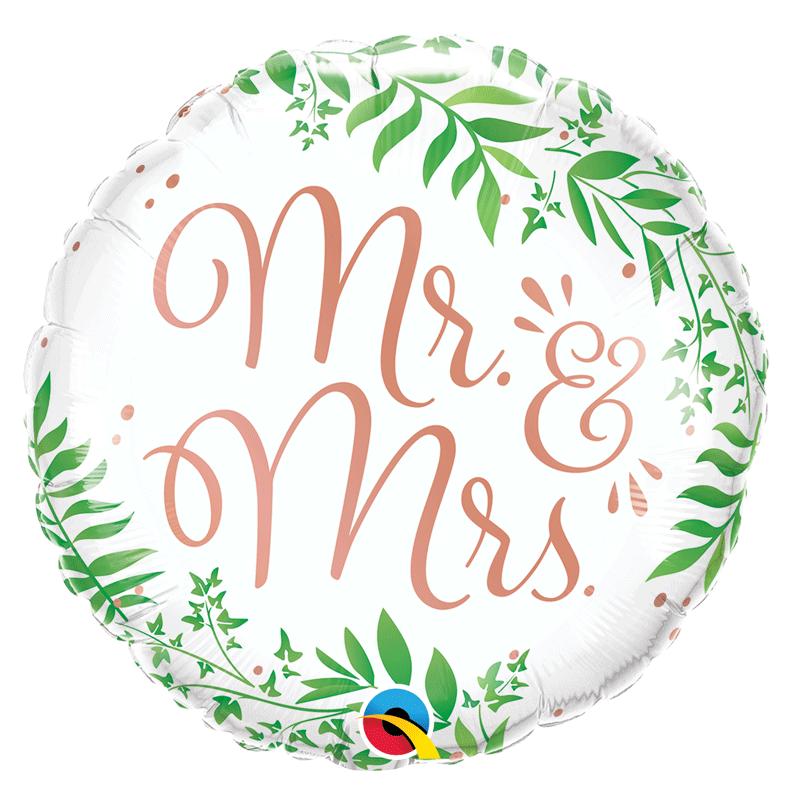 SMP Mr. & Mrs. foil balloon 45 cm