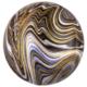 HH Orbz marble black foil balloon 38 x 40 cm