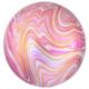 HH Orbz marble pink foil balloon 38 x 40 cm