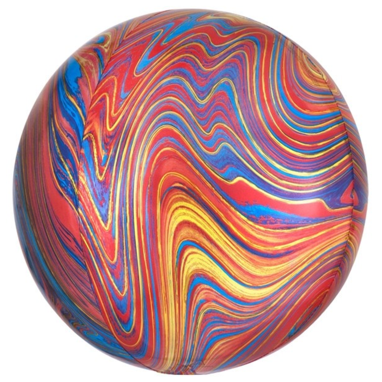 HH Orbz marble colorful foil balloon 38 x 40 cm
