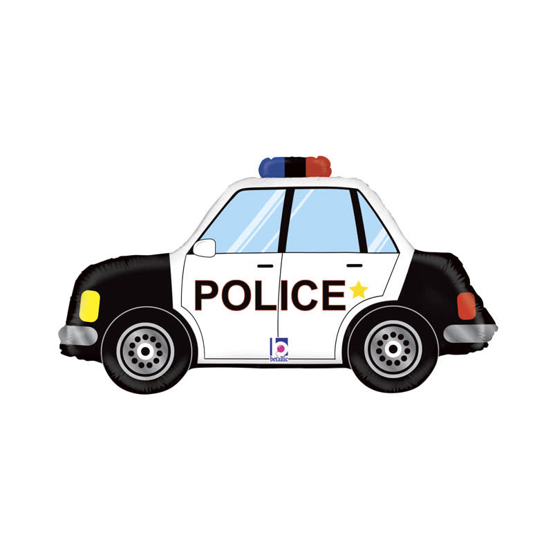 SMP Police car foil balloon 86 cm
