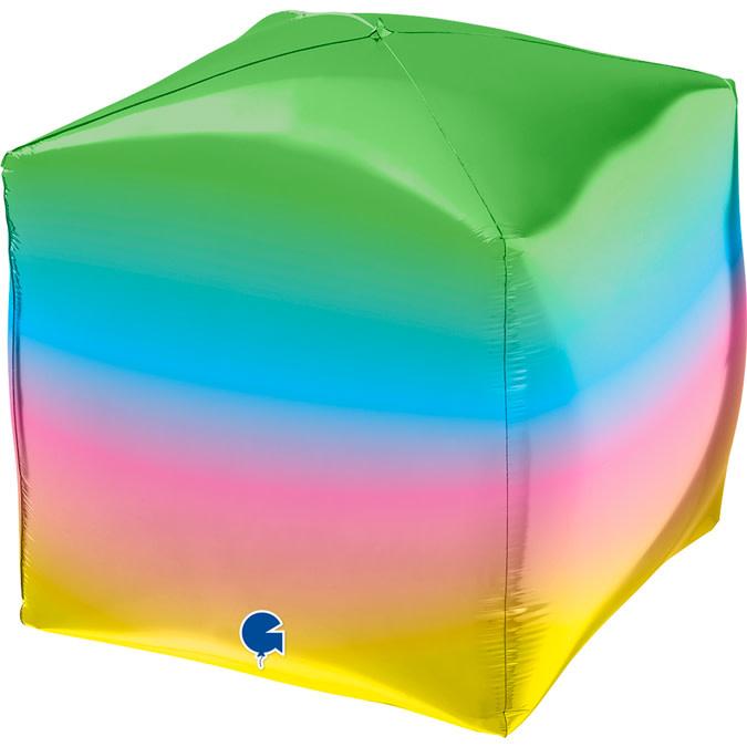 SMP Square rainbow foil balloon 38 cm