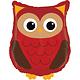 SMP owl foil balloon 66 cm