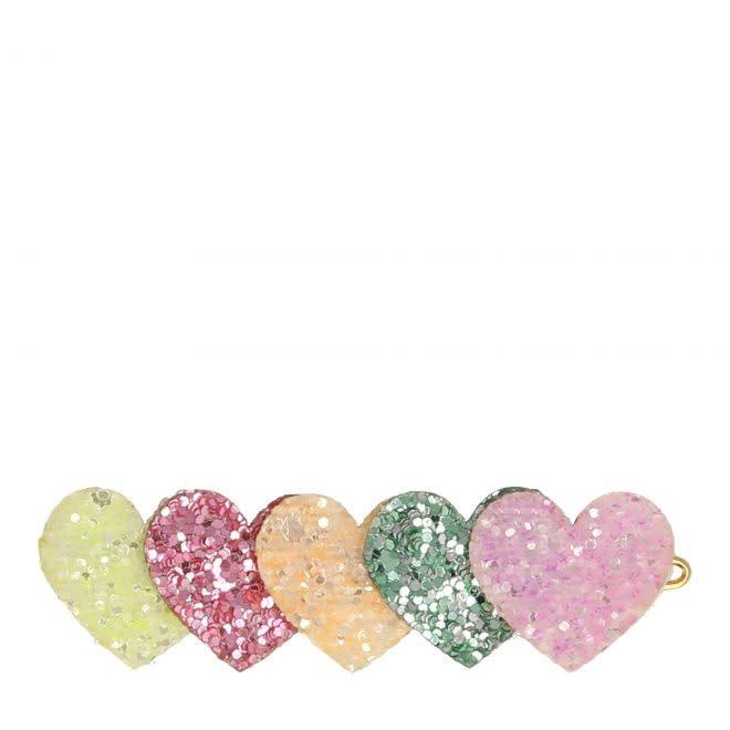 MERIMERI Heart glitter hair clip