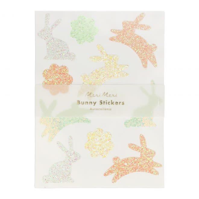 MERIMERI Glitter bunny sticker sheets