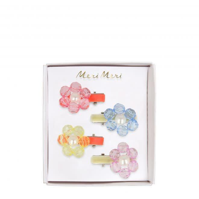 MERIMERI Flower jewel hair clips
