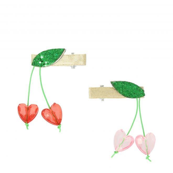 MERIMERI Cherry bead hair clips