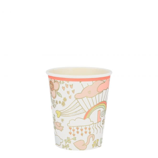 MERIMERI Valentine doodle cups