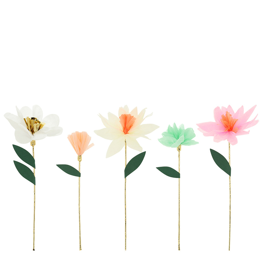 MERIMERI Flower Garden decorative sticks