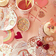 MERIMERI Valentine doodle napkins L