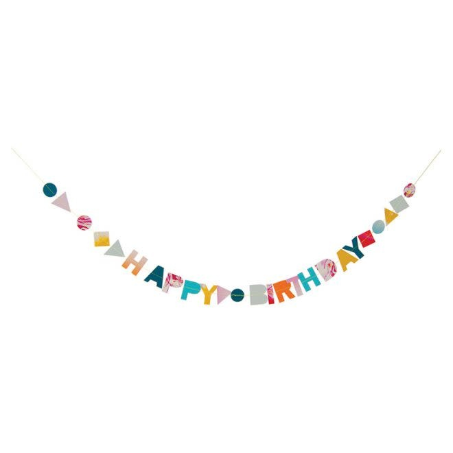 MERIMERI Marble birthday garland card