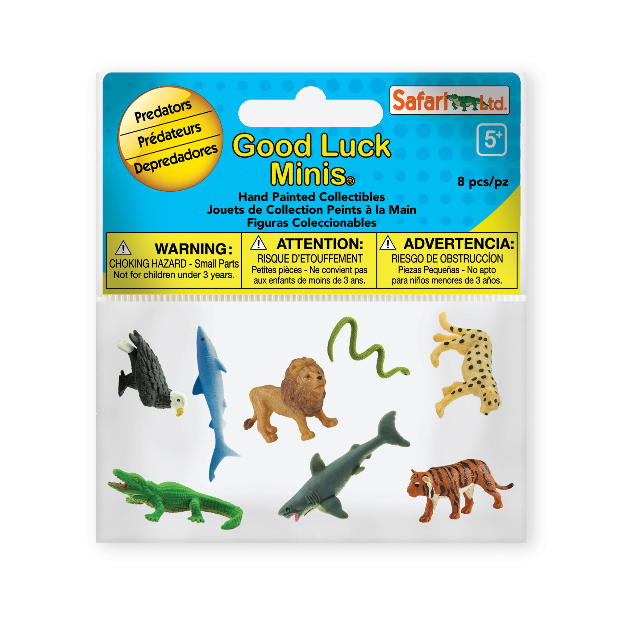 SAFARI predators - mini animals 8 pieces