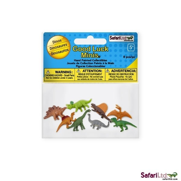 SAFARI dino's - mini animals 8 pieces