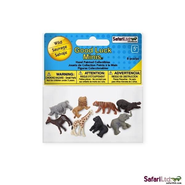 SAFARI wild- mini animals 8 pieces