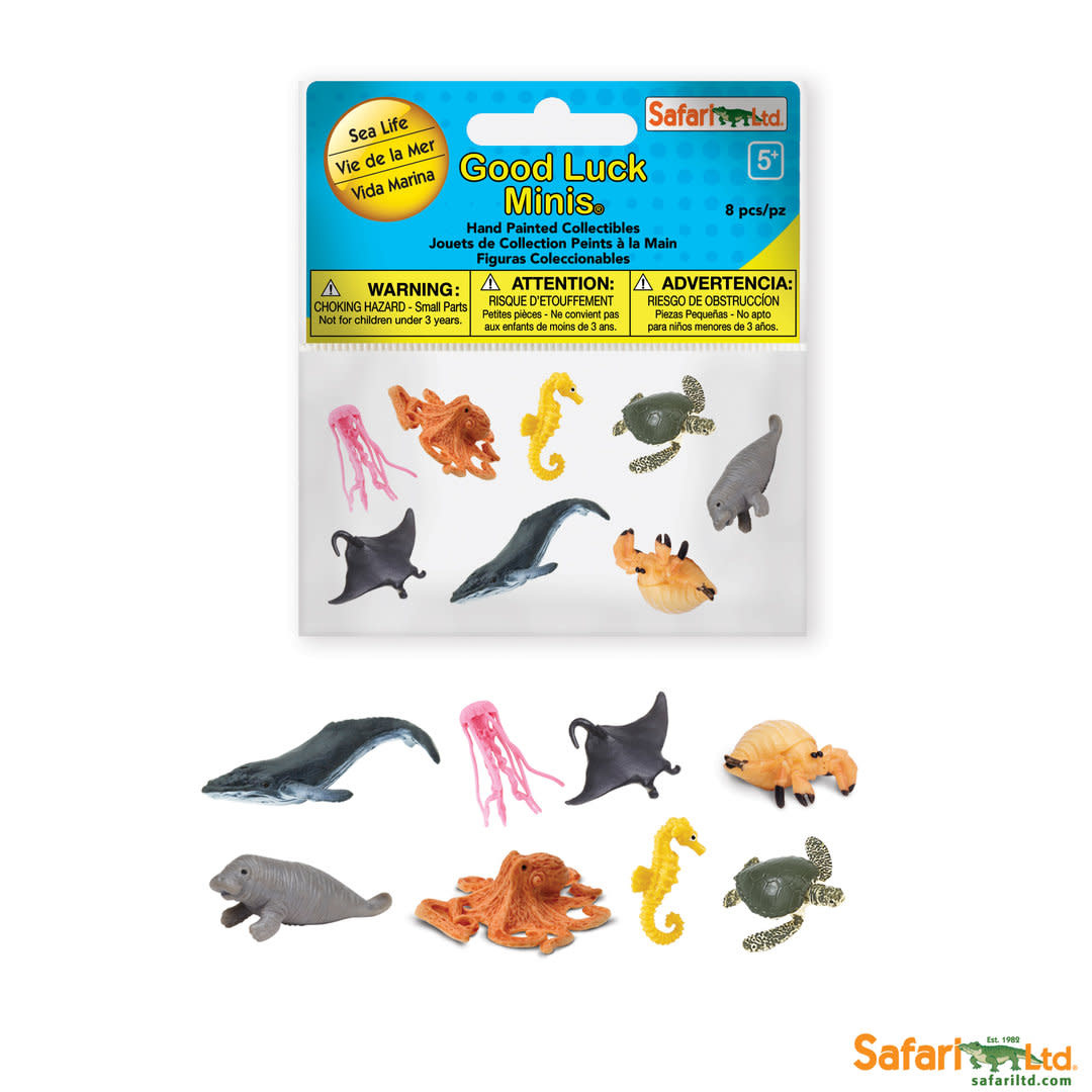 SAFARI sea life- mini animals 8 pieces