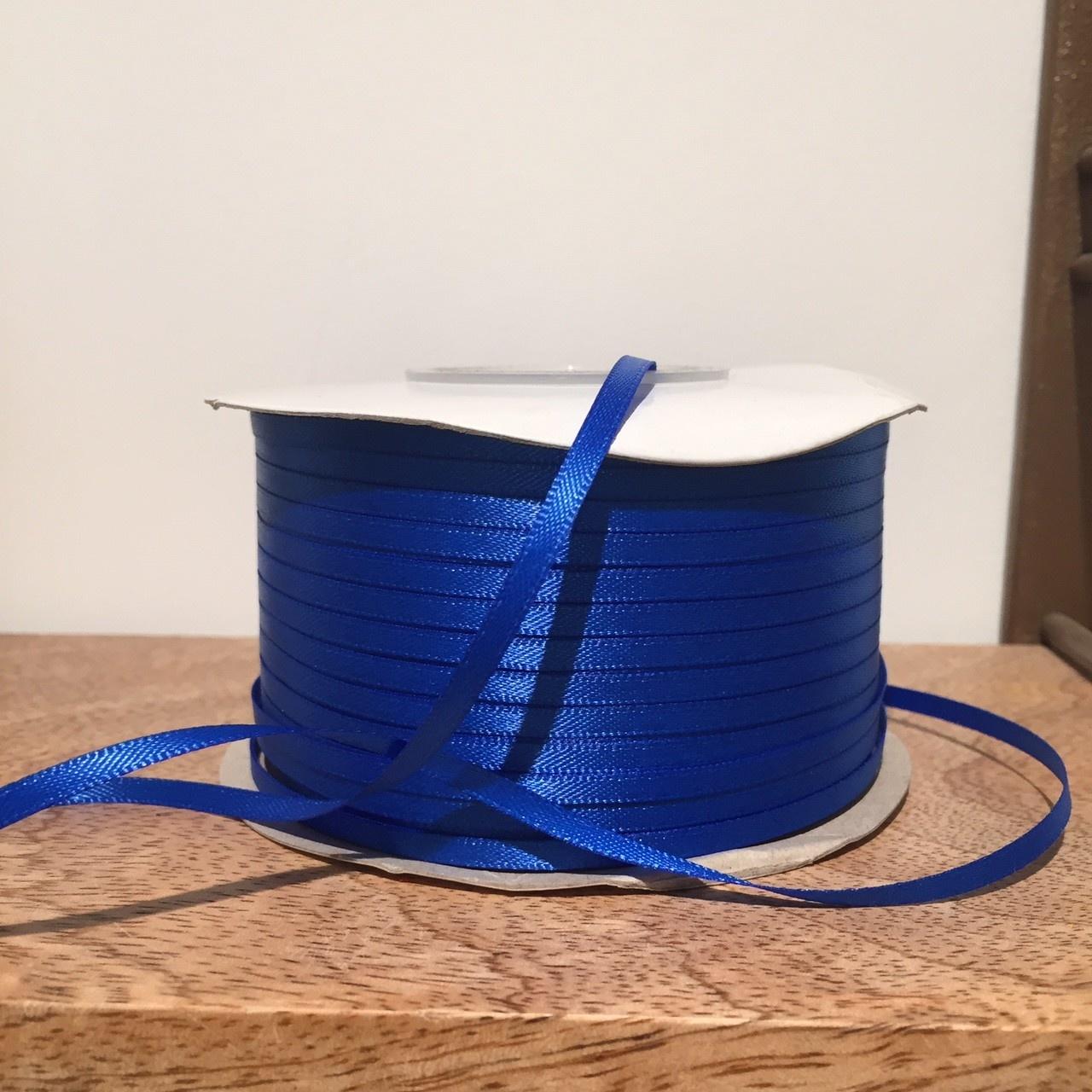 KD ribbon satin electric blue 3mm