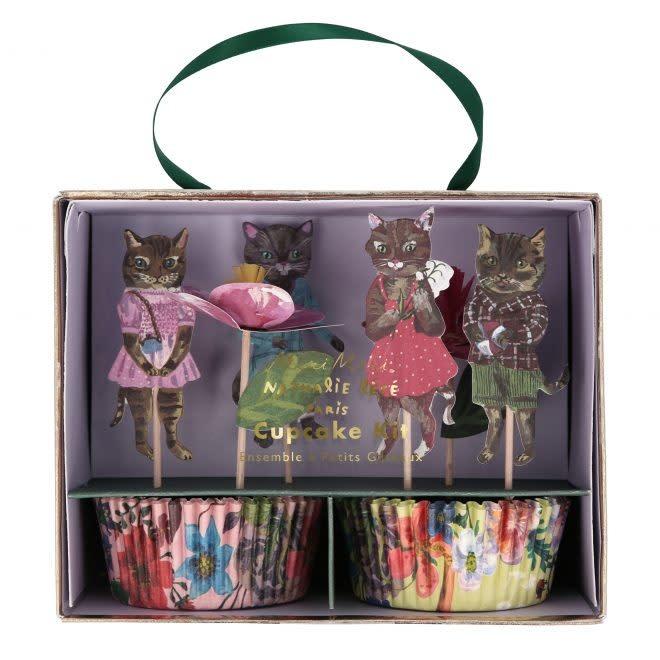 MERIMERI Nathalie Lété Flora Cat cupcake kit