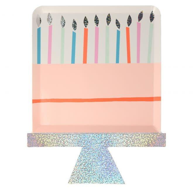 MERIMERI Birthday Cake plates
