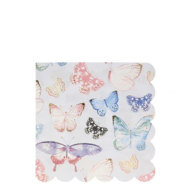 MERIMERI Butterfly napkins L