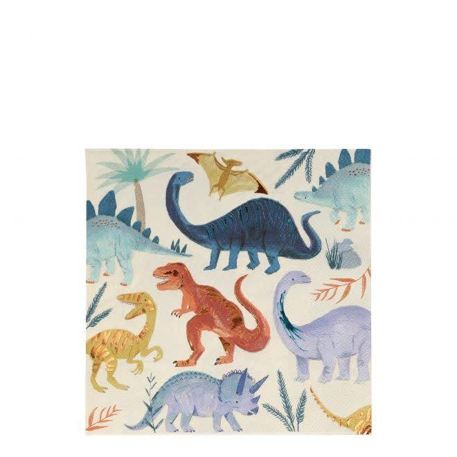 MERIMERI Dinosaur Kingdom napkins L