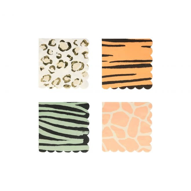 MERIMERI Safari animal print napkins S
