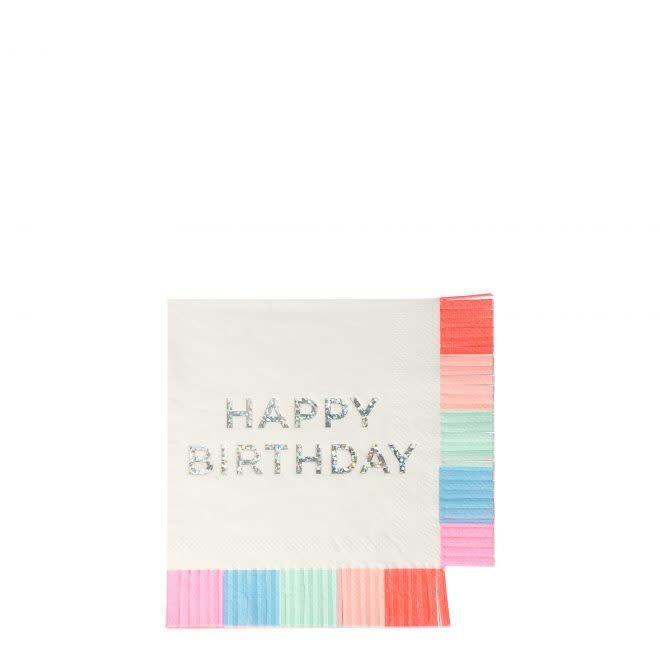 MERIMERI Birthday fringe napkins S