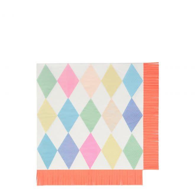 MERIMERI Circus fringe napkins L