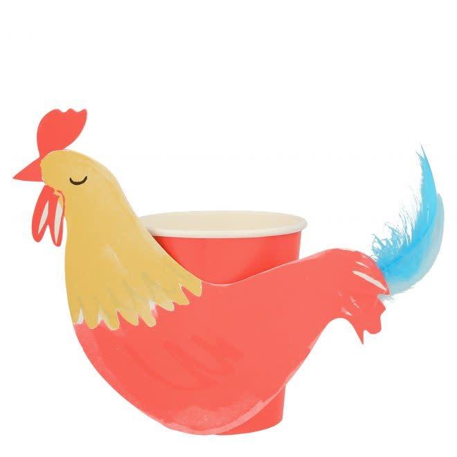 MERIMERI Rooster cups