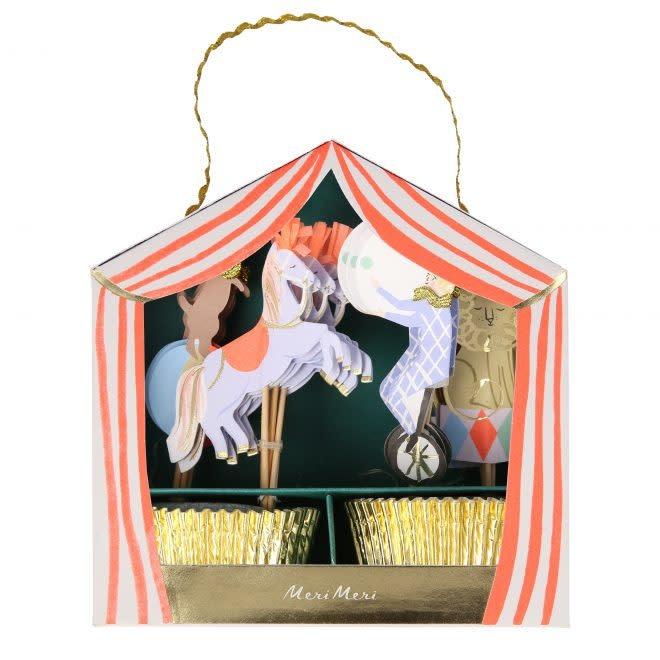MERIMERI Circus Parade cupcake kit