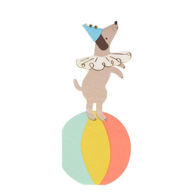 MERIMERI Circus Dog napkins