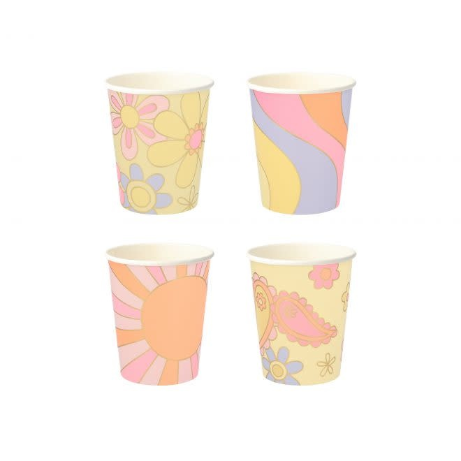MERIMERI Psychedelic 60's cups