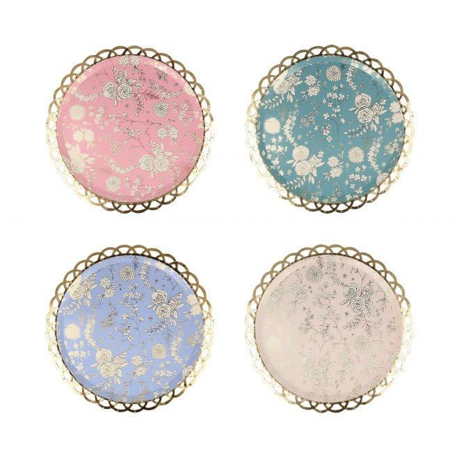 MERIMERI English Garden Lace side plates