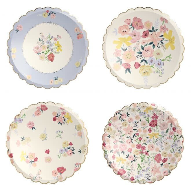 MERIMERI English Garden dinner plates