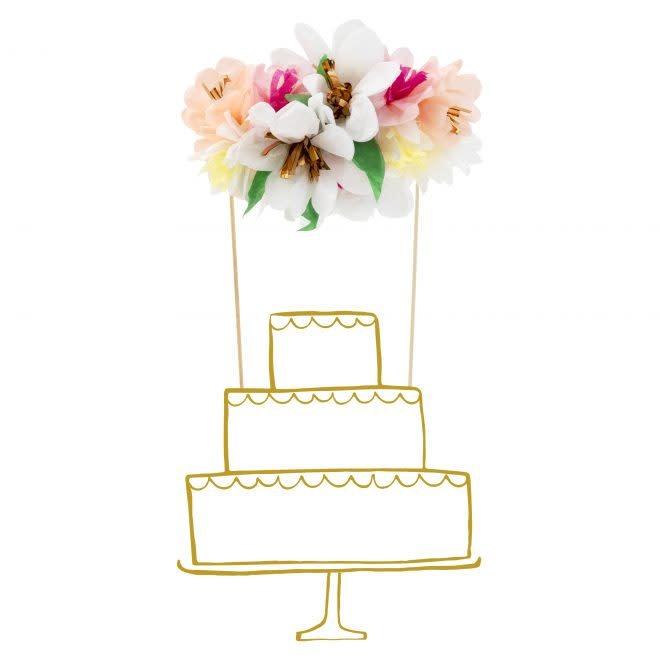 MERIMERI Flower bouquet cake topper