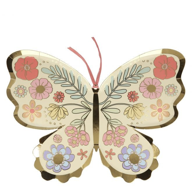 MERIMERI Floral Butterfly plates