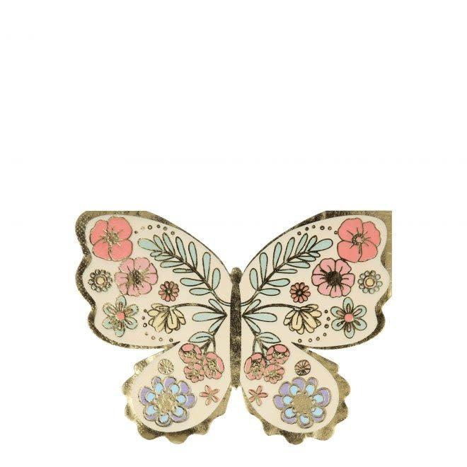 MERIMERI Floral Butterfly napkins