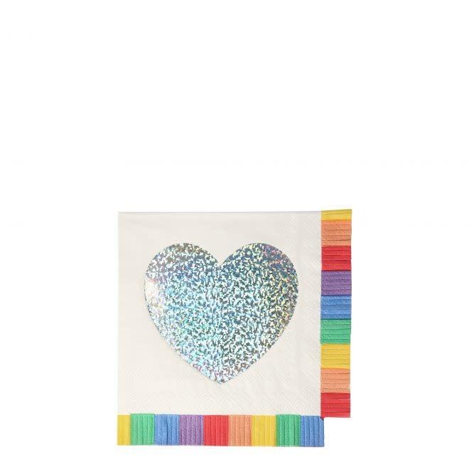MERIMERI Rainbow fringe napkins S