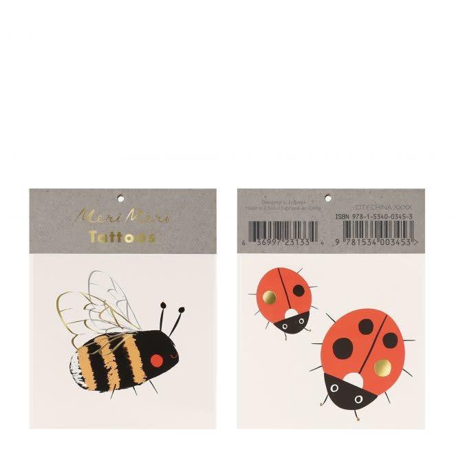 MERIMERI Bee & Ladybird tattoos
