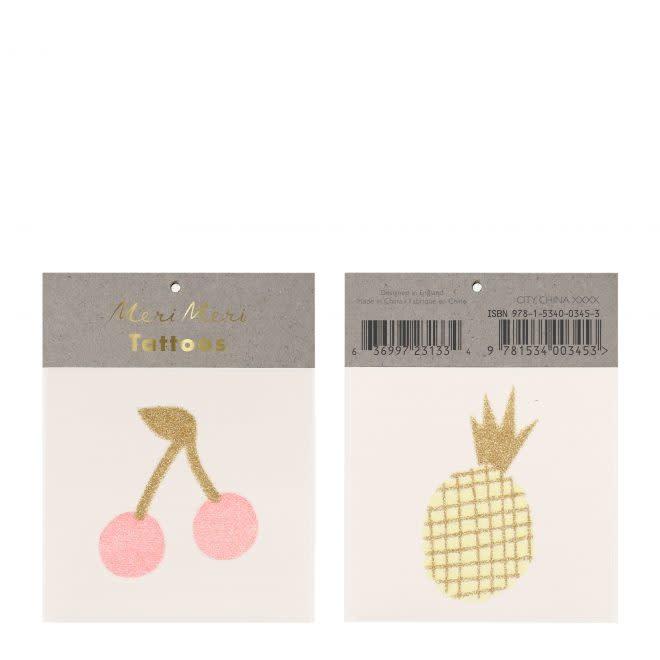 MERIMERI Cherry & Pineapple tattoos