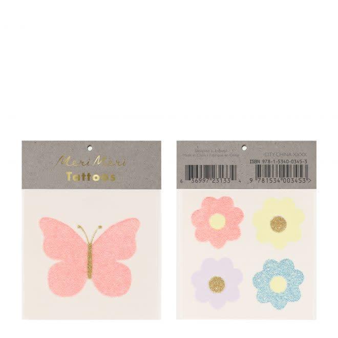 MERIMERI Floral Butterfly tattoos