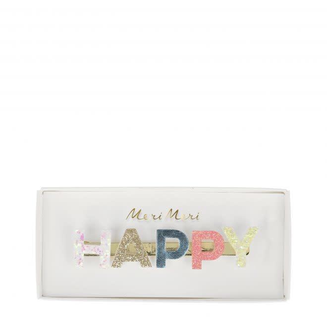 MERIMERI Happy glitter hair clip